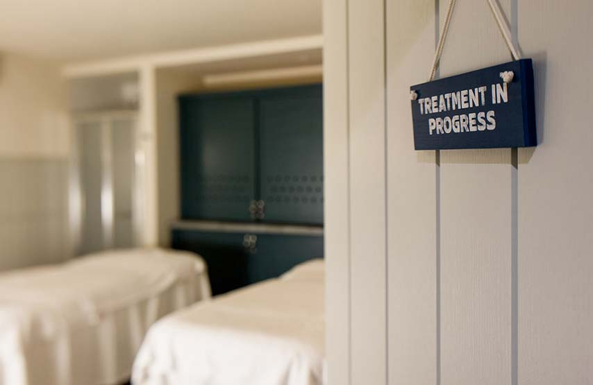 A treatment room in Swim Club