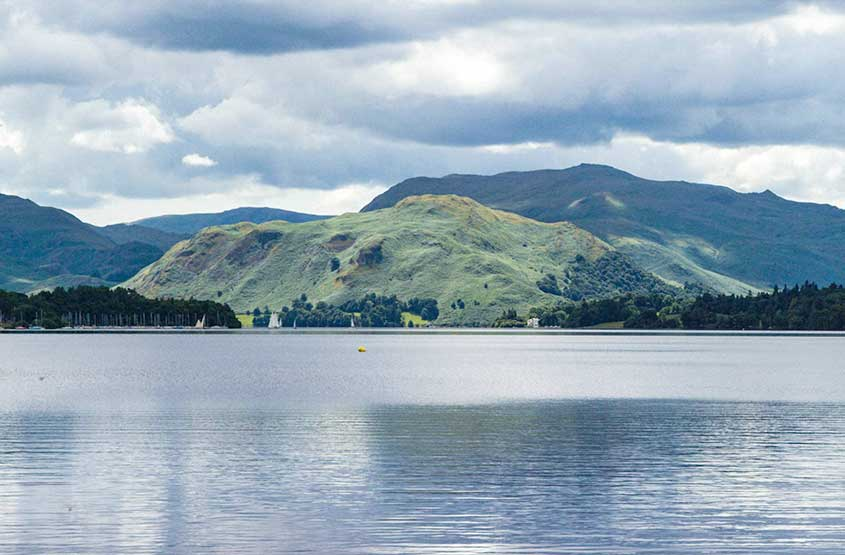 Views over Ullswater towards the fells beyond