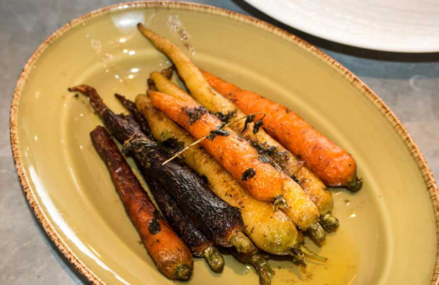 Heritage carrots, a side dish in The Living Space at Another Place