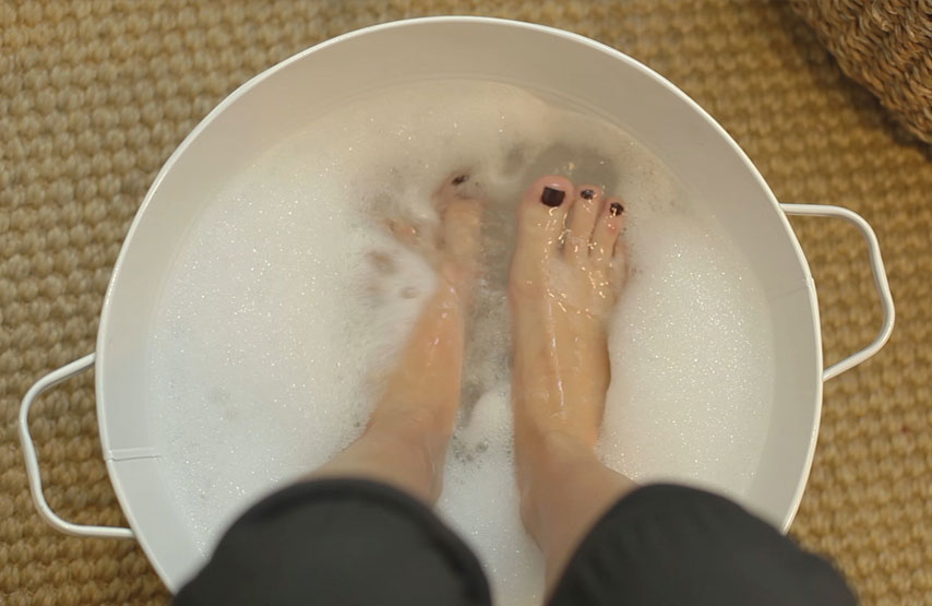 Woman having a foot treatment in Swim Club at Another Place