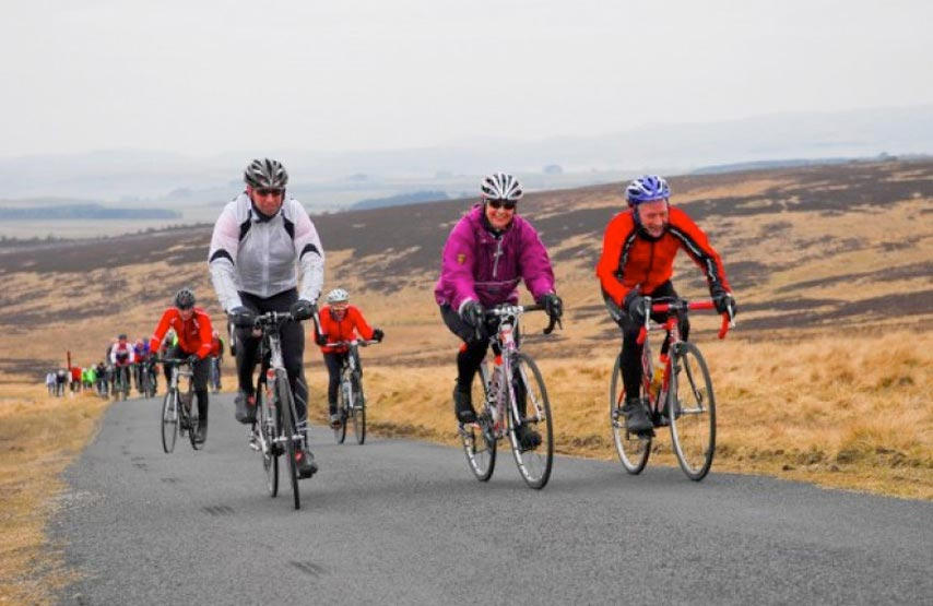 The Eden Valley Epic Cycle Sportive in action