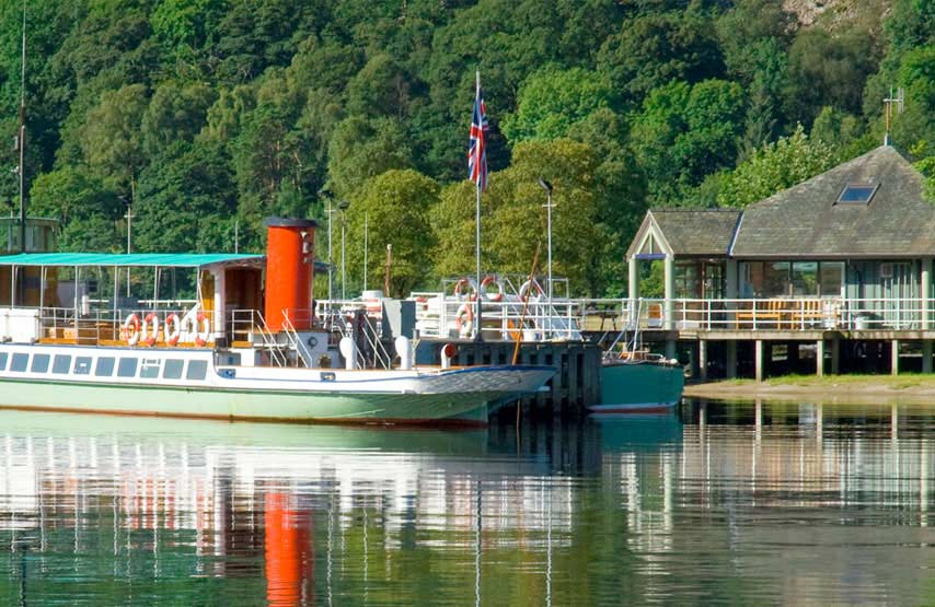 Ullswater steamer at the jetty, Photo: Cumbria Tourism Library