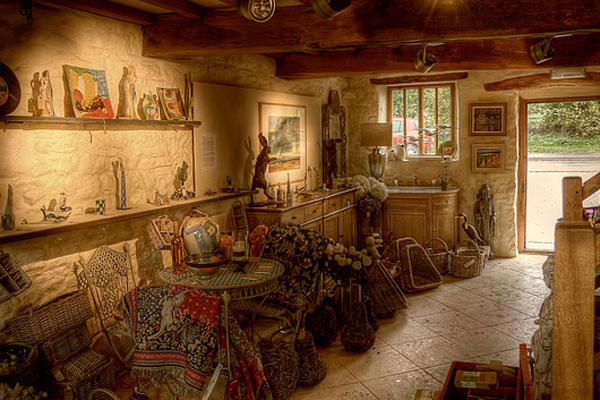 Interior of the Red Barn Gallery