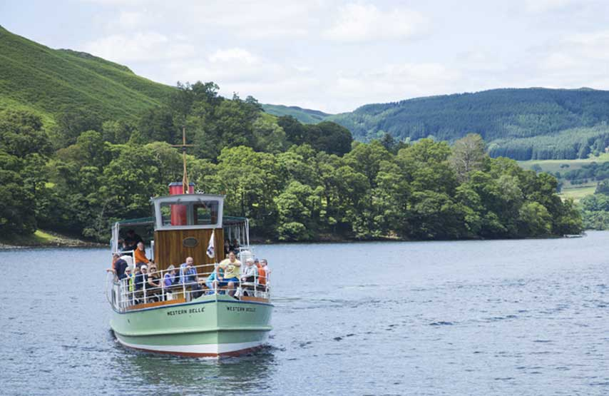 Ullswater Steamer cruising on the lake