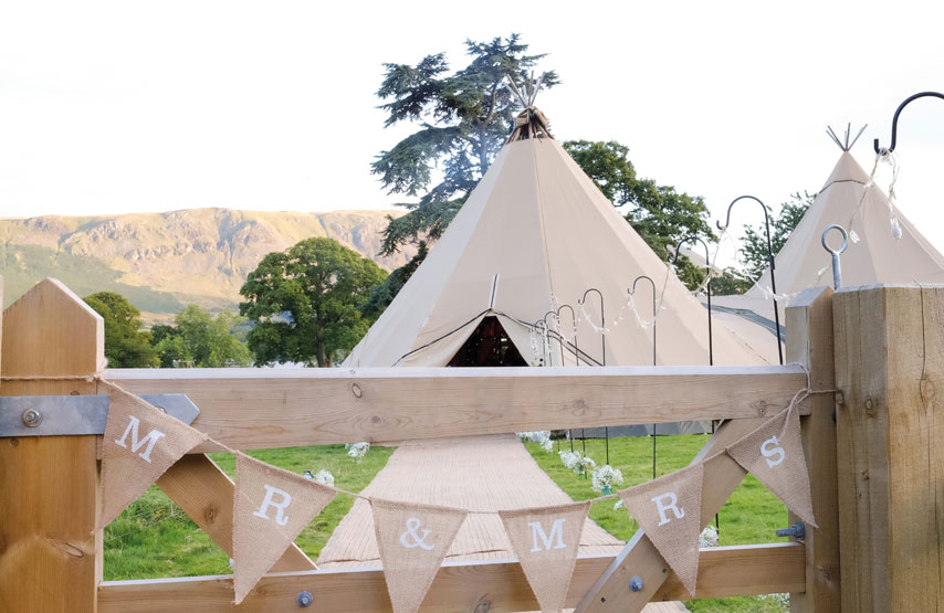 Tipi wedding at Another Place, a new hotel in the Lake District