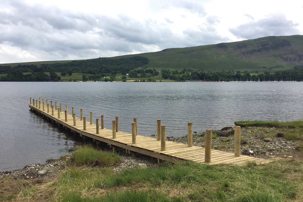 Build progress at Another Place, The Lake - a new Lake District hotel
