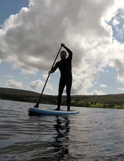 Man stand up paddling on Ullswater