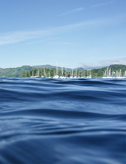 Sailing boats on Ullswater