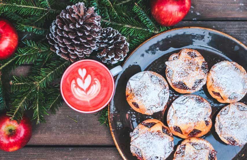 Mince pies served at Another Place, The Lake at Christmas