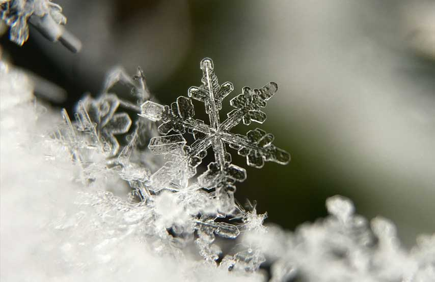 A snowflake shot at Christmas time in the Lake District