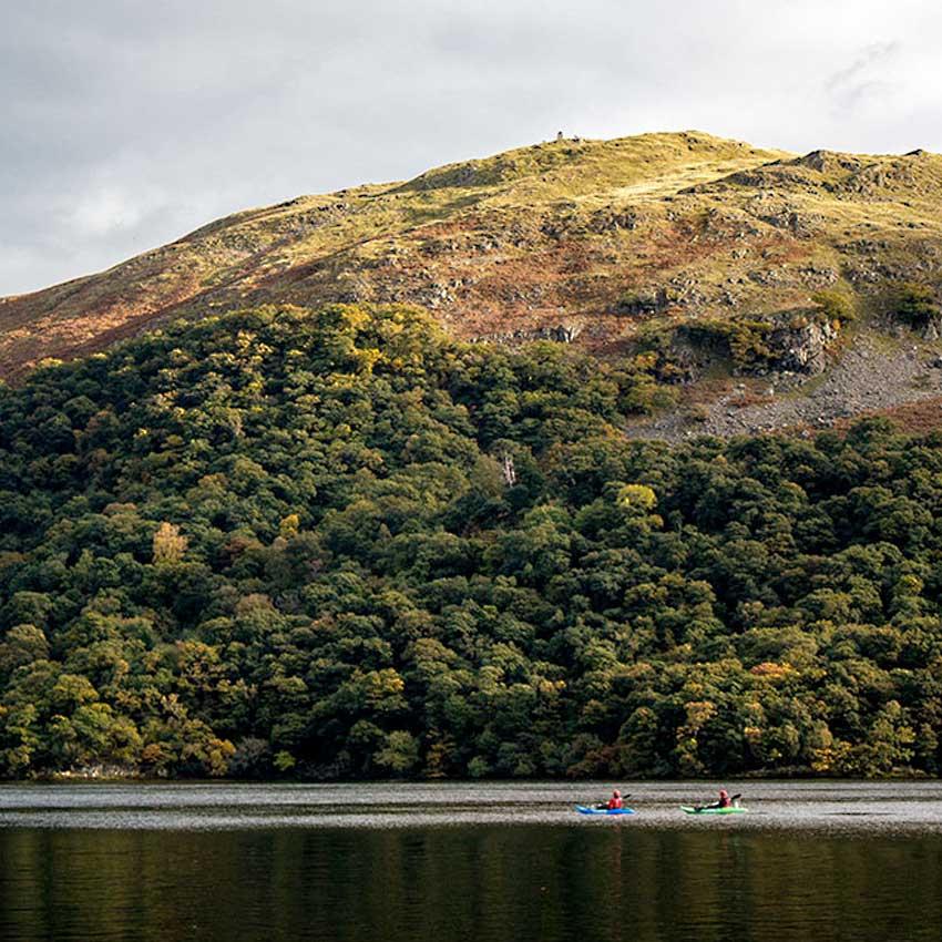 Kayaking on Ullswater in the Lake District