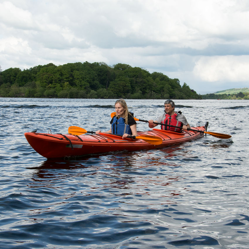 Learn to kayak on Ullswater in the Lake District