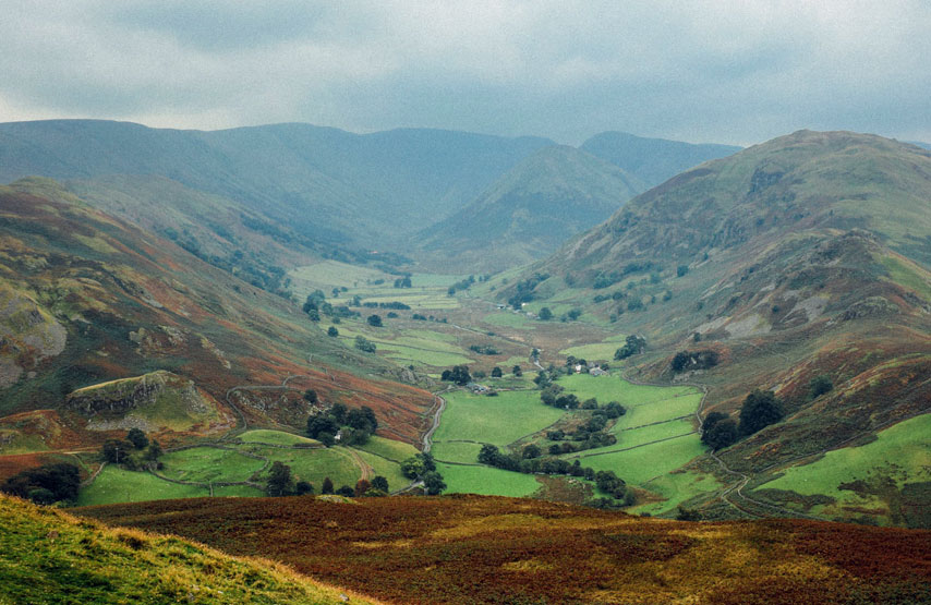 Surrounding trails of Ullswater
