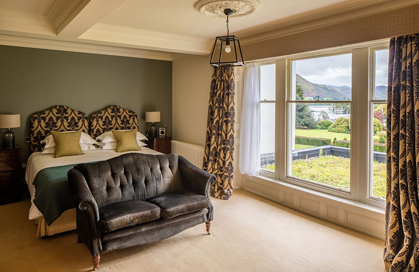 Best hotel bedroom at Another Place, The Lake in Ullswater the Lake District