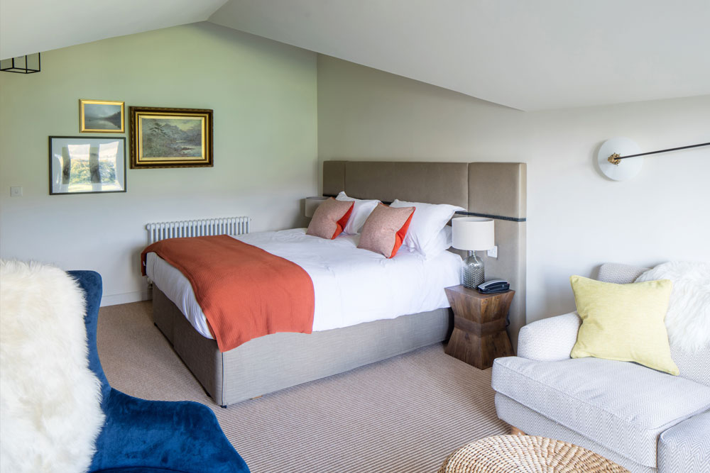 Family suite hotel bedroom at Another Place, The Lake in Ullswater the Lake District