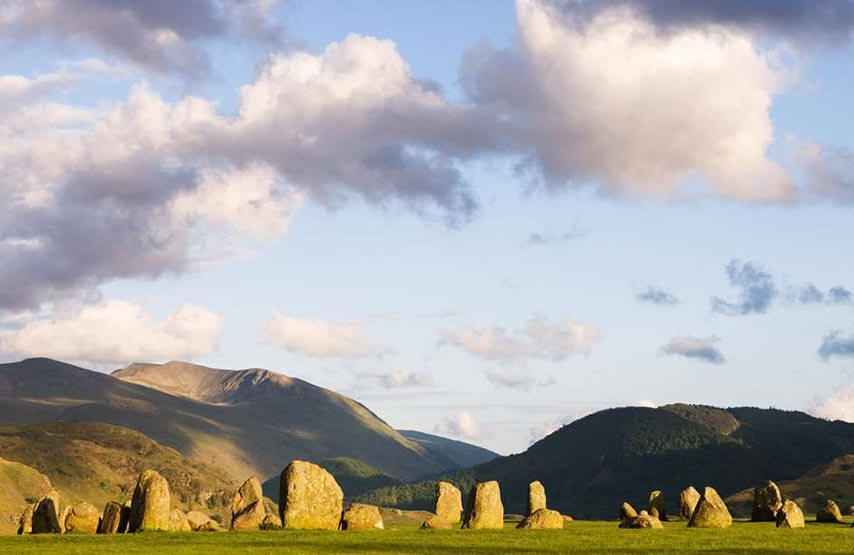 Castlerigg is a Neolithic stone circle. It can be found near Keswick.