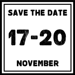 Save the date: 17 - 20 November emblem