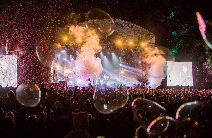 Bubbles amongst the crowds at Kendal Calling