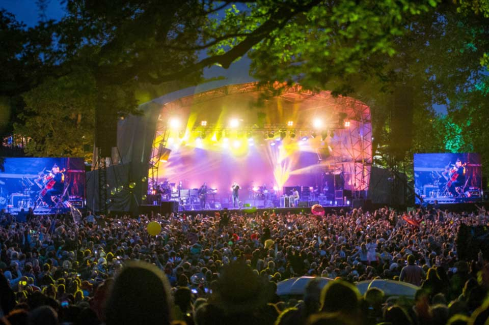 Main stage at Kendal Calling - an award-winning music festival in Cumbria