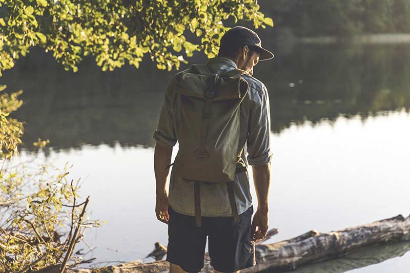 Man wearing a Millican bag in the Lake District