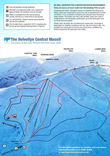 The Helvellyn Central Massif piste map