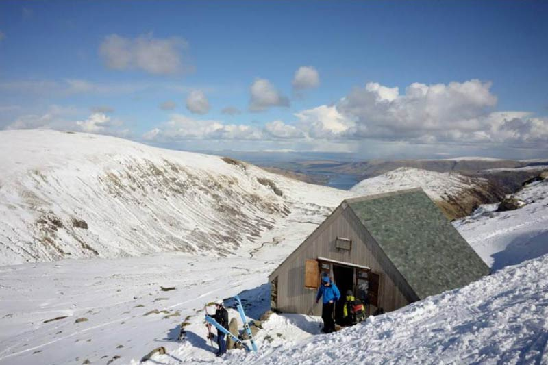 The Lake District Ski Club's clubhouse on Raise