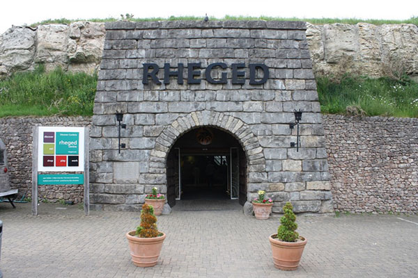 Entrance to the Rheged Centre in the Lake District
