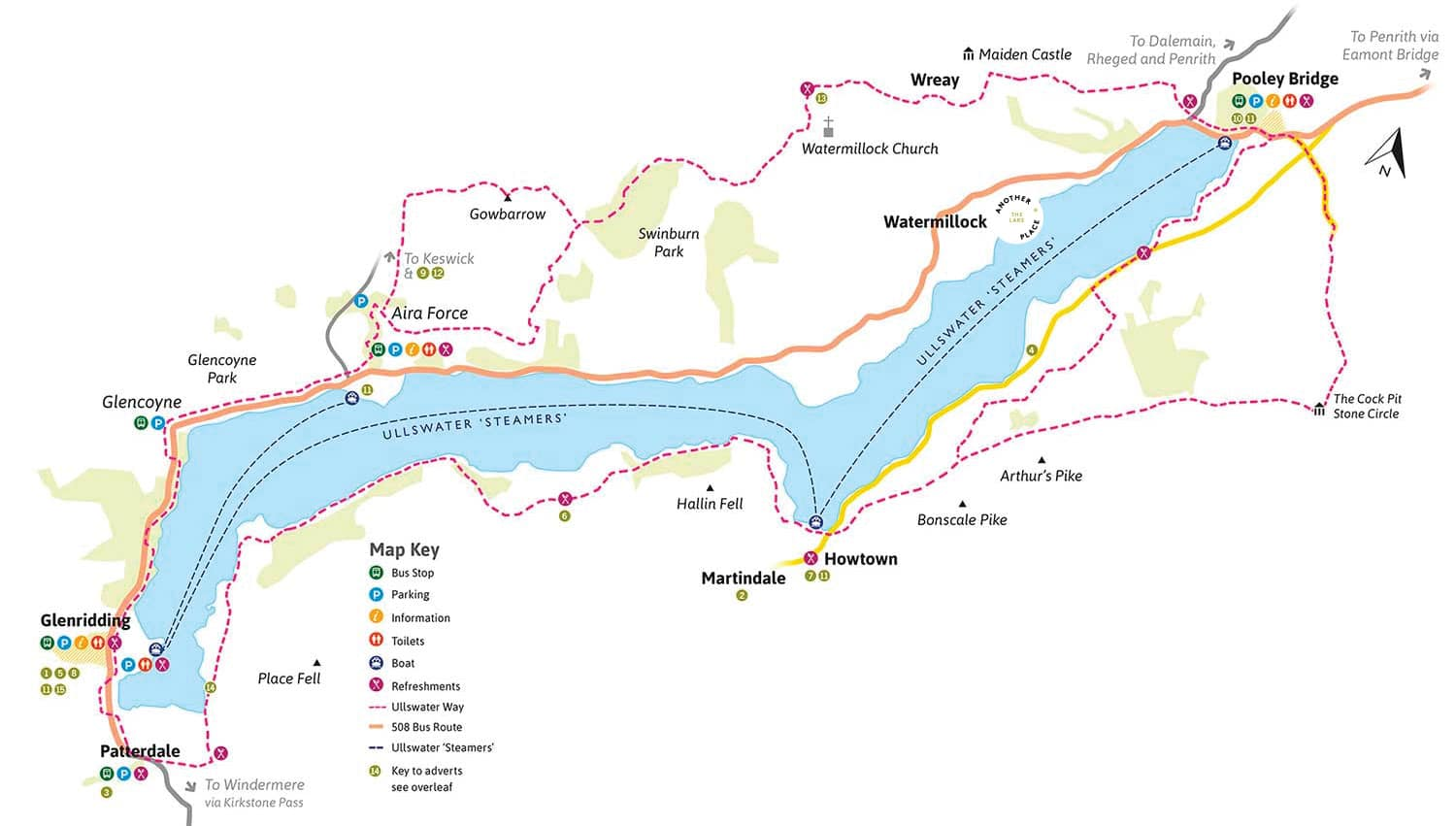 The Ullswater Way route map