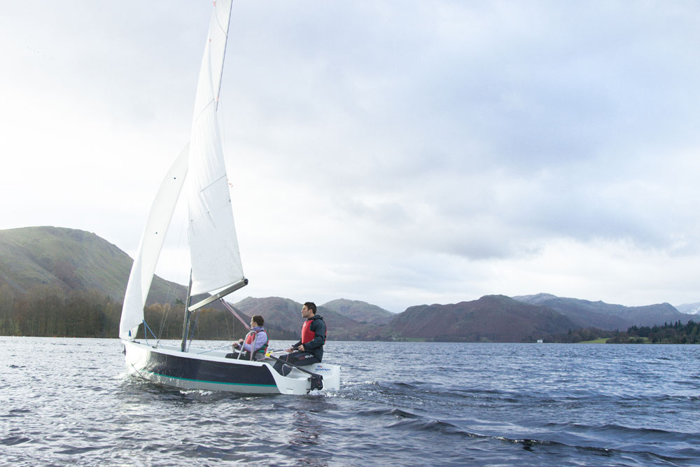 Sailing on Ullswater in the Lake District