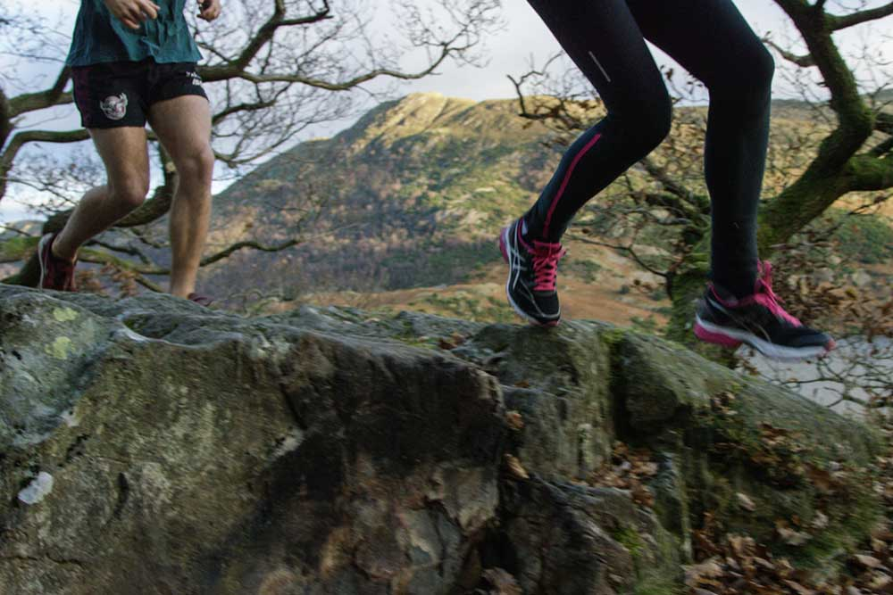 Trail running on the shores of Ullswater