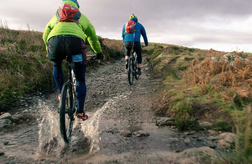 Mountain biking on the trails around Ullswater