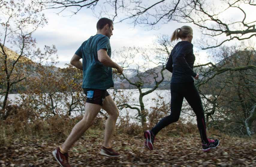 Running alongside Ullswater