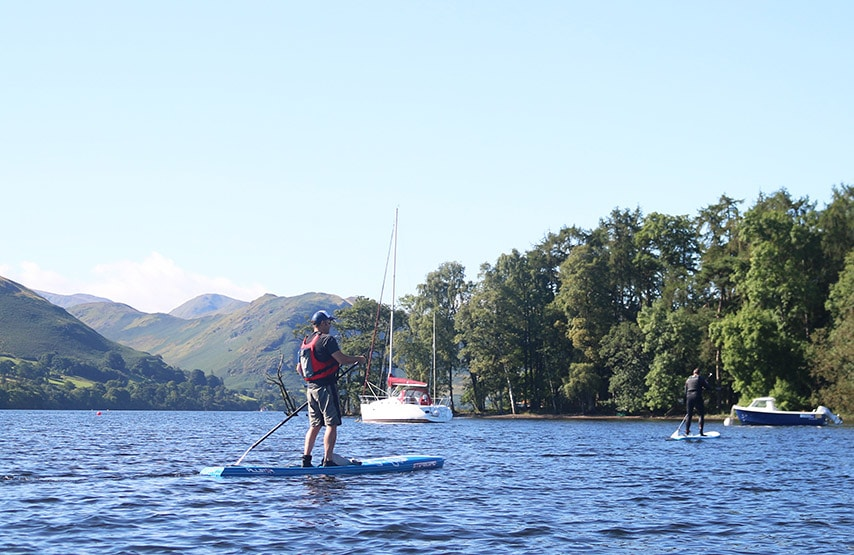 Stand up paddleboarding at Another Place, The Lake