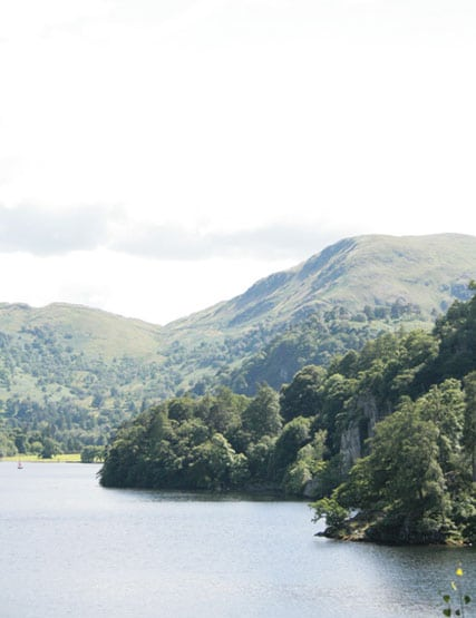 View of Ullswater and the fells behind it