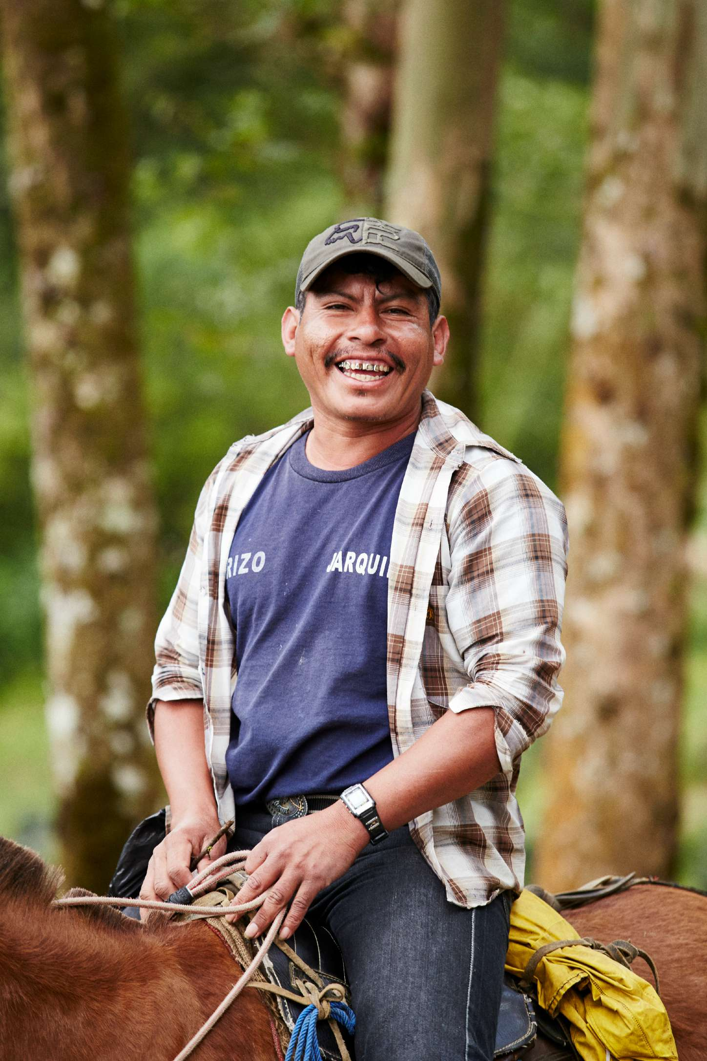 Origin coffee farmer in Los Altos, Colombia