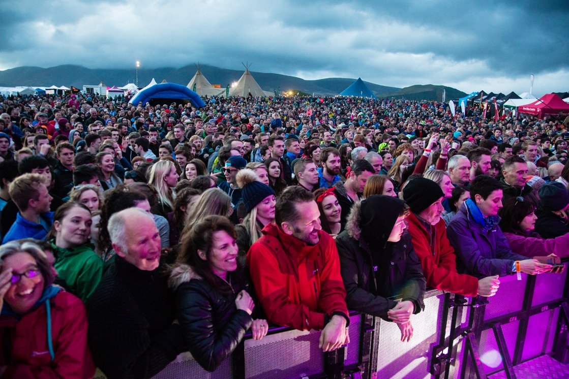 Crowds and tipis at Keswick Mountain Festival