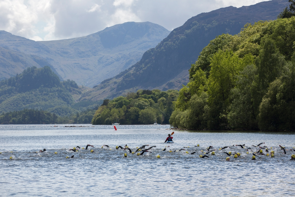 Swimmers at Keswick Mountain Festival