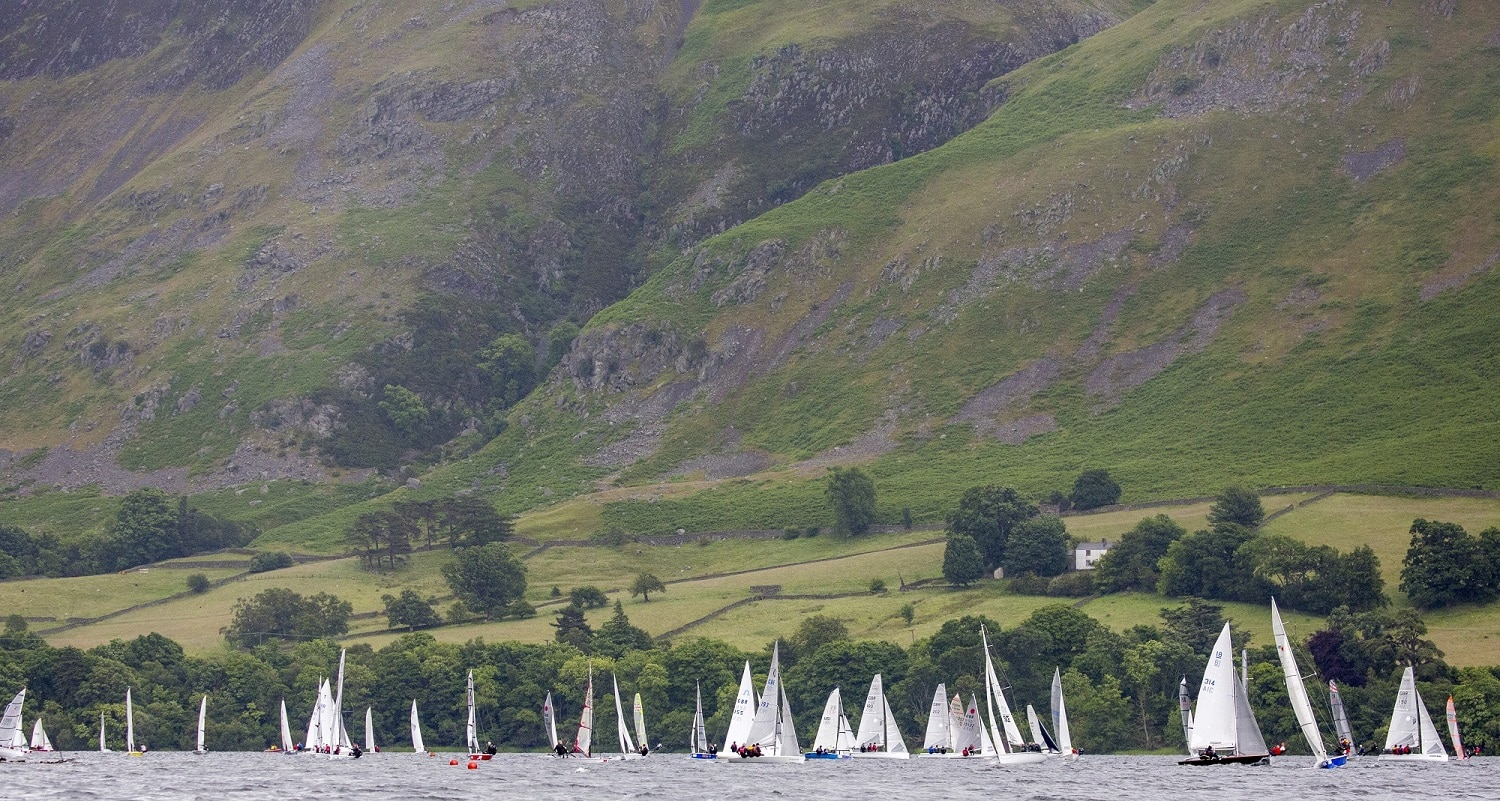 Birkett 2016, fleet sails down Ullswater. By Tim Olin - s