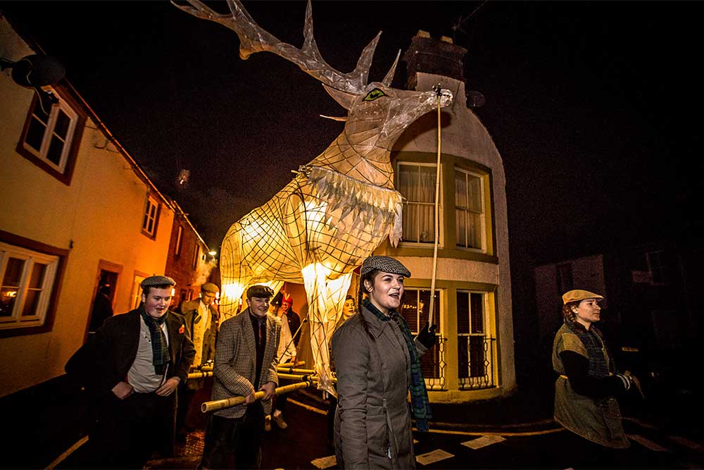 Winter Droving, a magical day of rural celebration, food, fun, games, masquerade and fire in Penrith.