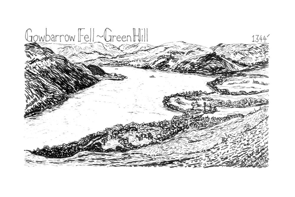 Gowbarrow Fell to Green Hill