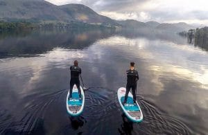Stand up paddleboarding on Ullswater in the Lake District
