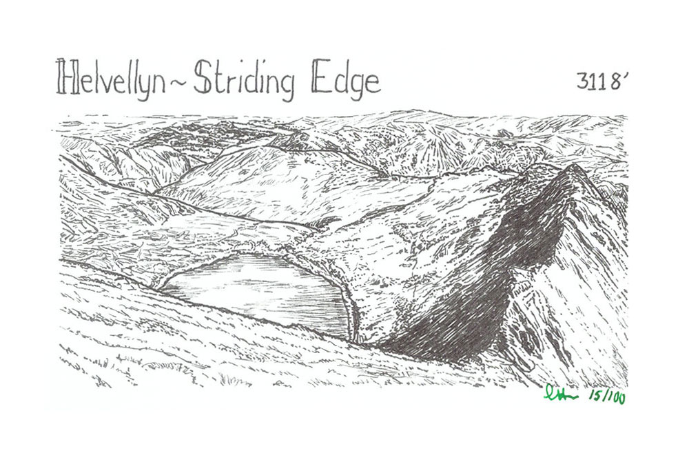 Helvellyn to Striding Edge