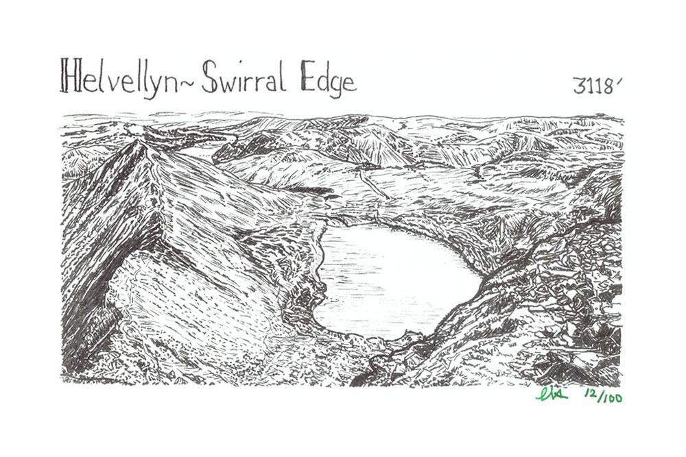Helvellyn to Swirral Edge