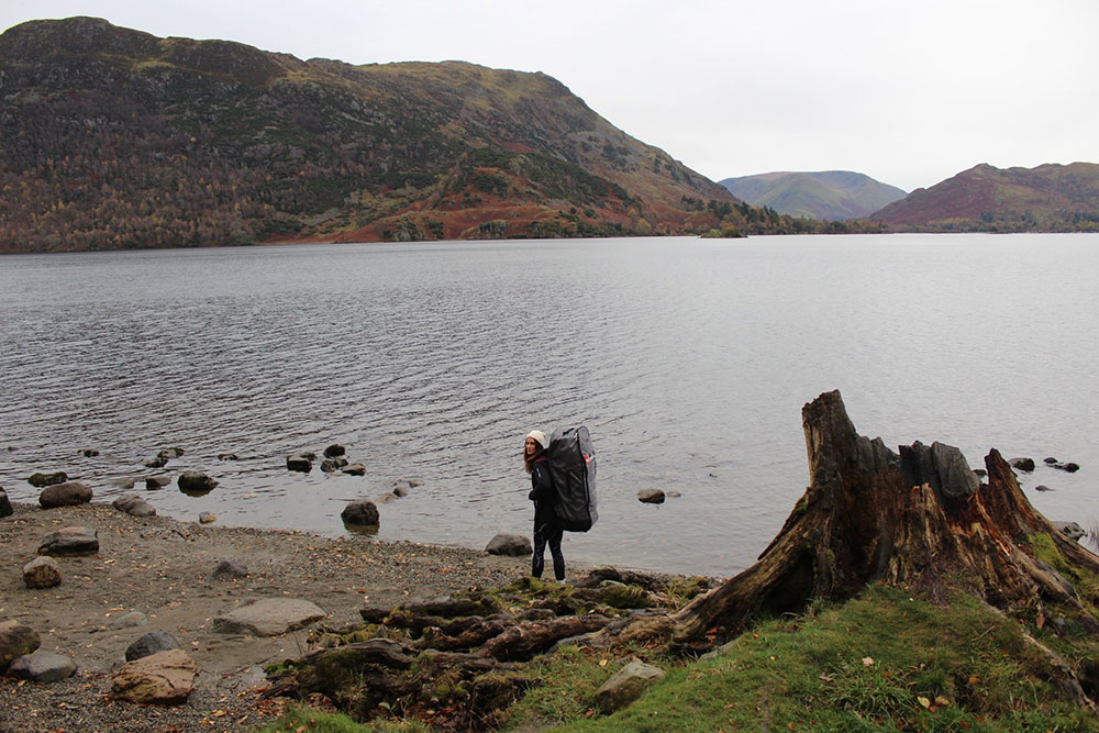 Woman standing by Ullswater