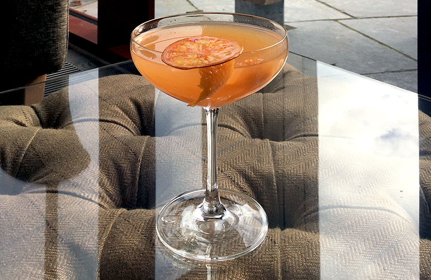 Dalemain marmalade martini cocktail
