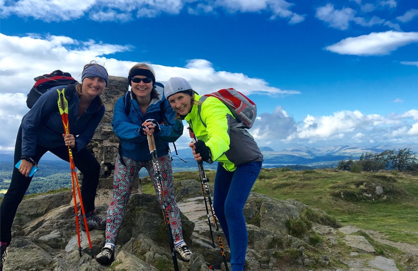 Nordic walkers in the Lake District