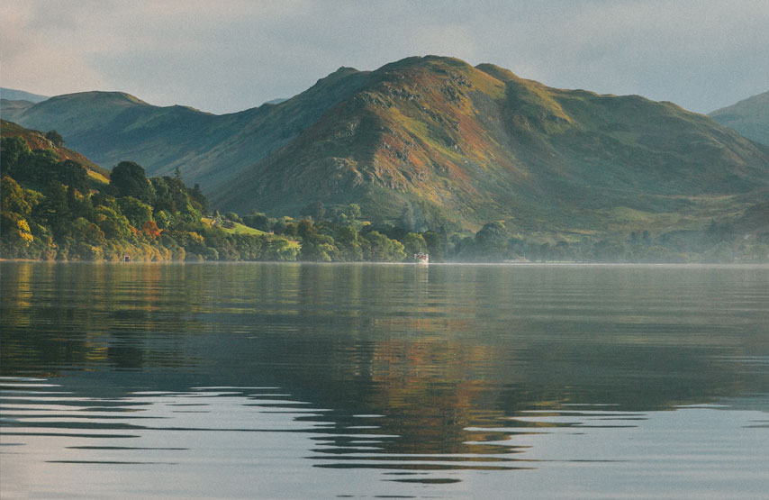 view of the lake in Ullswater, the Lake District
