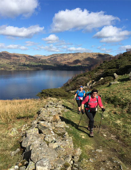 Two walkers in the Lake District
