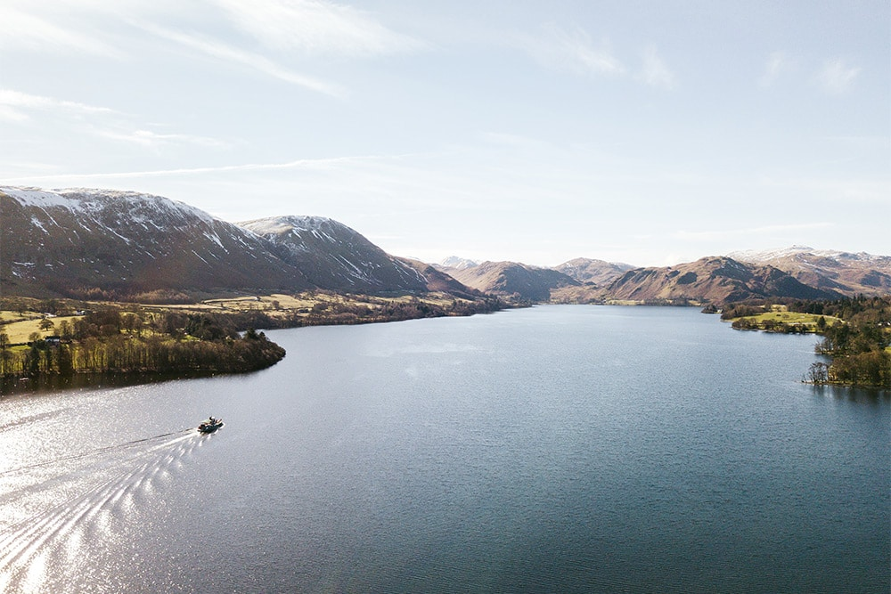 Aerial view of Ullswater