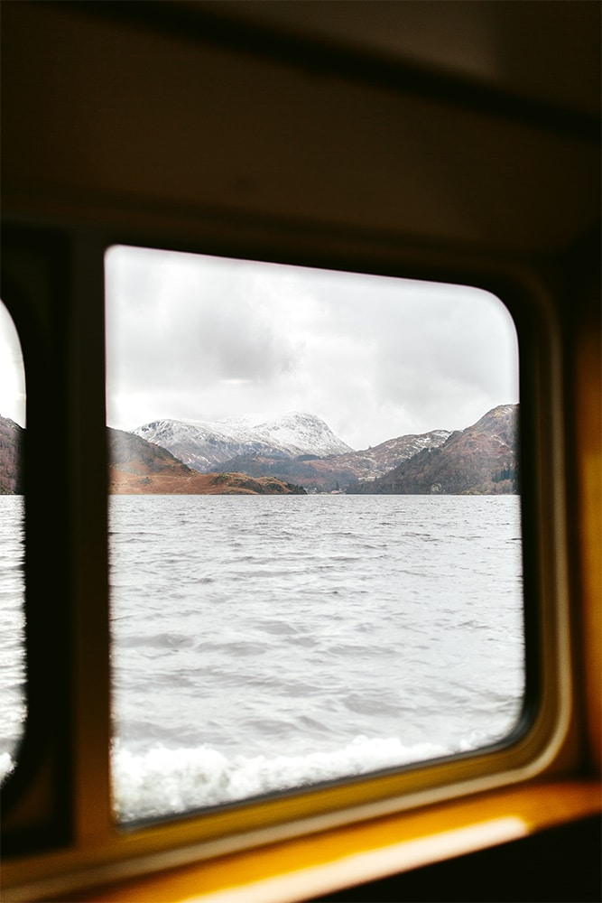 Looking through a window at the fells